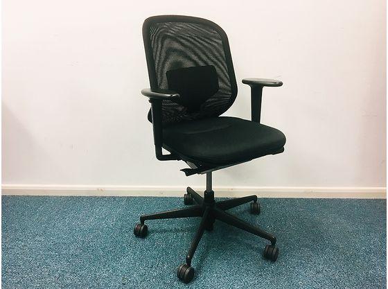 Vitra Medapal Black Mesh back Operator Chairs