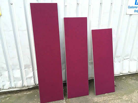Burgundy screens available in various sizes