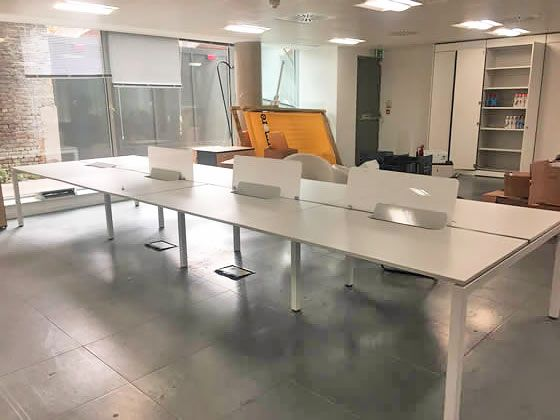 Further view of the Dynamobel desks shown in the previous photo