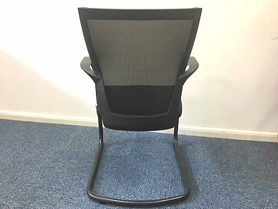 Further view of the Techo Sidiz mesh back cantilever meeting chairs shown in the previous image.