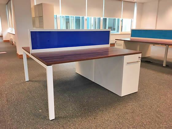 Further view of the 2-person Task 'Team' bench desks shown in the previous photo