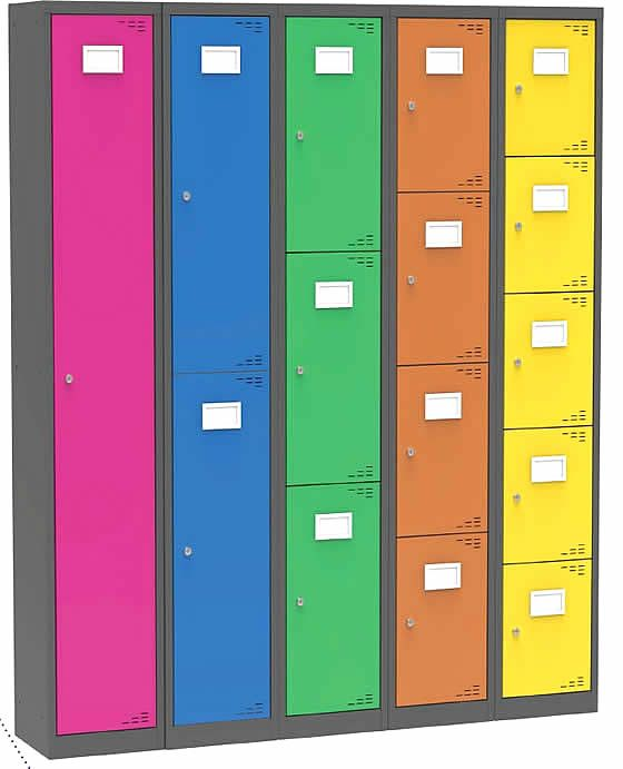 Brand new fully welded steel lockers with a 5 year guarantee.