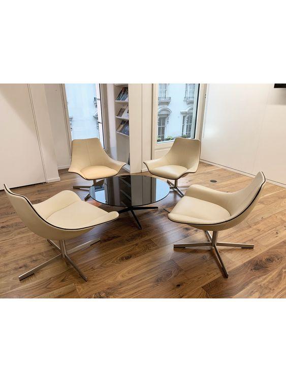 Matteo Grassi 2 Leather Swivel Chairs