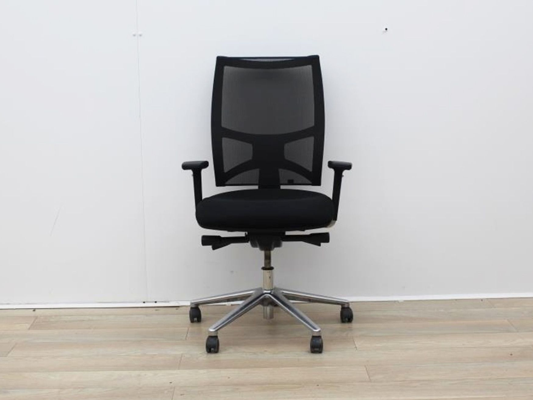 Used Sitland Operator Chair With Chrome Back And Chrome Legs