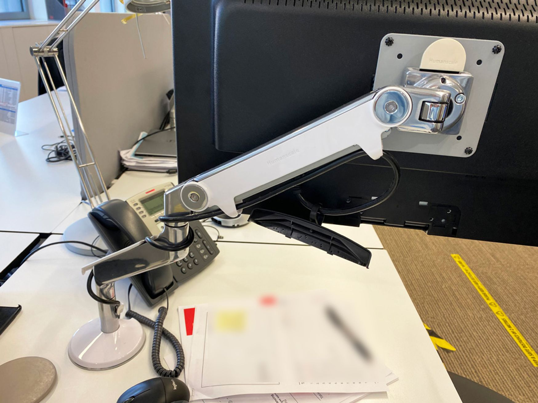 If you don't already have one of these - get one, you'll never look back! Humanscale 'M2' monitor arms