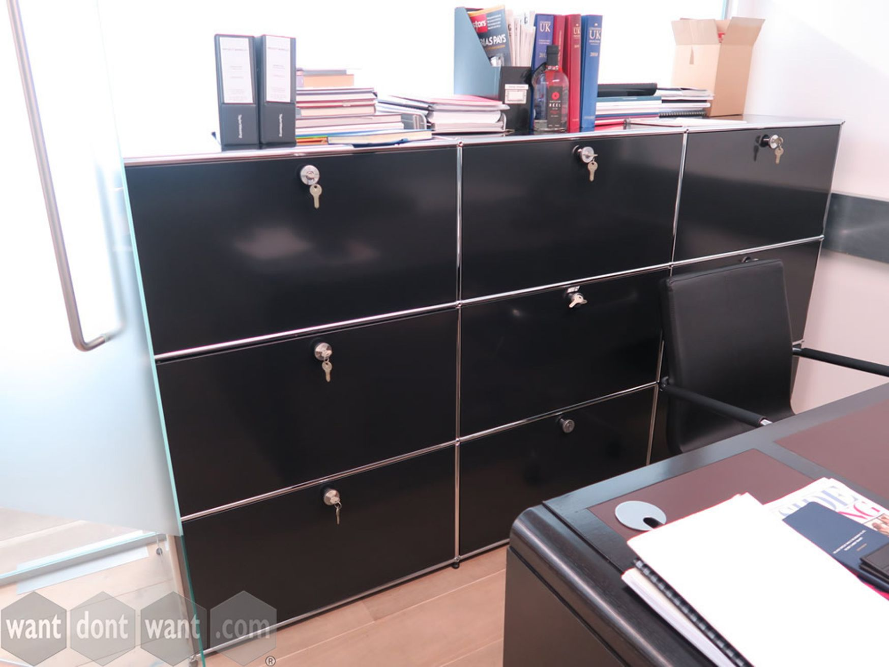 Used collectable USM Haller in black/chrome finish.