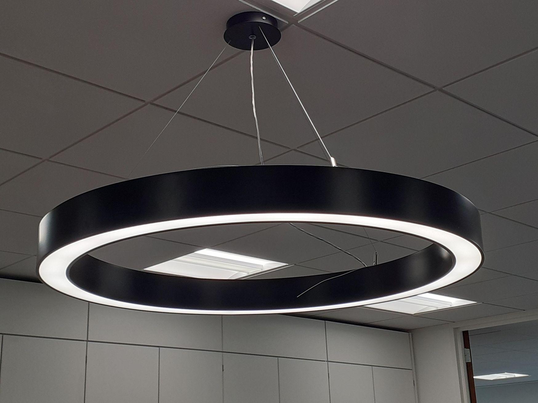 Contemporary design suspended Mount 'Halo' lights 650mm diameter