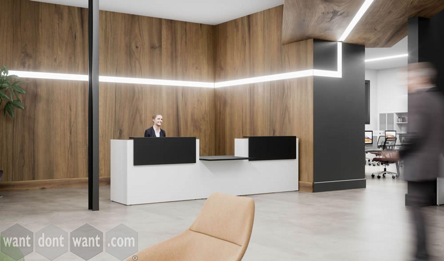 Brand New smart professional reception desk with central DDA
