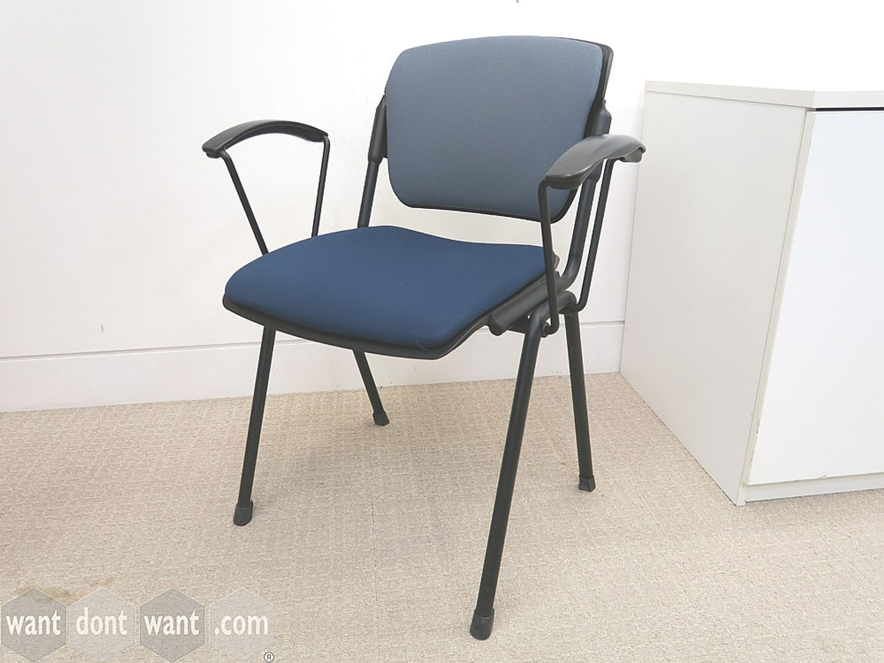 Used Senator Torasen Multi-Purpose Stacking Chair with Upholstered seat and back