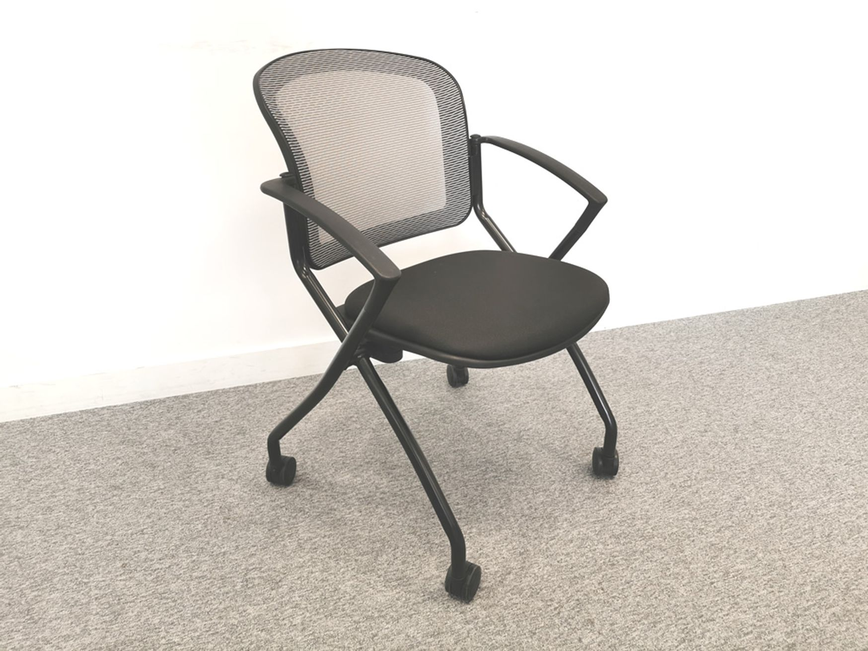 Used Open Plan 'Steal' Folding Chair on Wheels