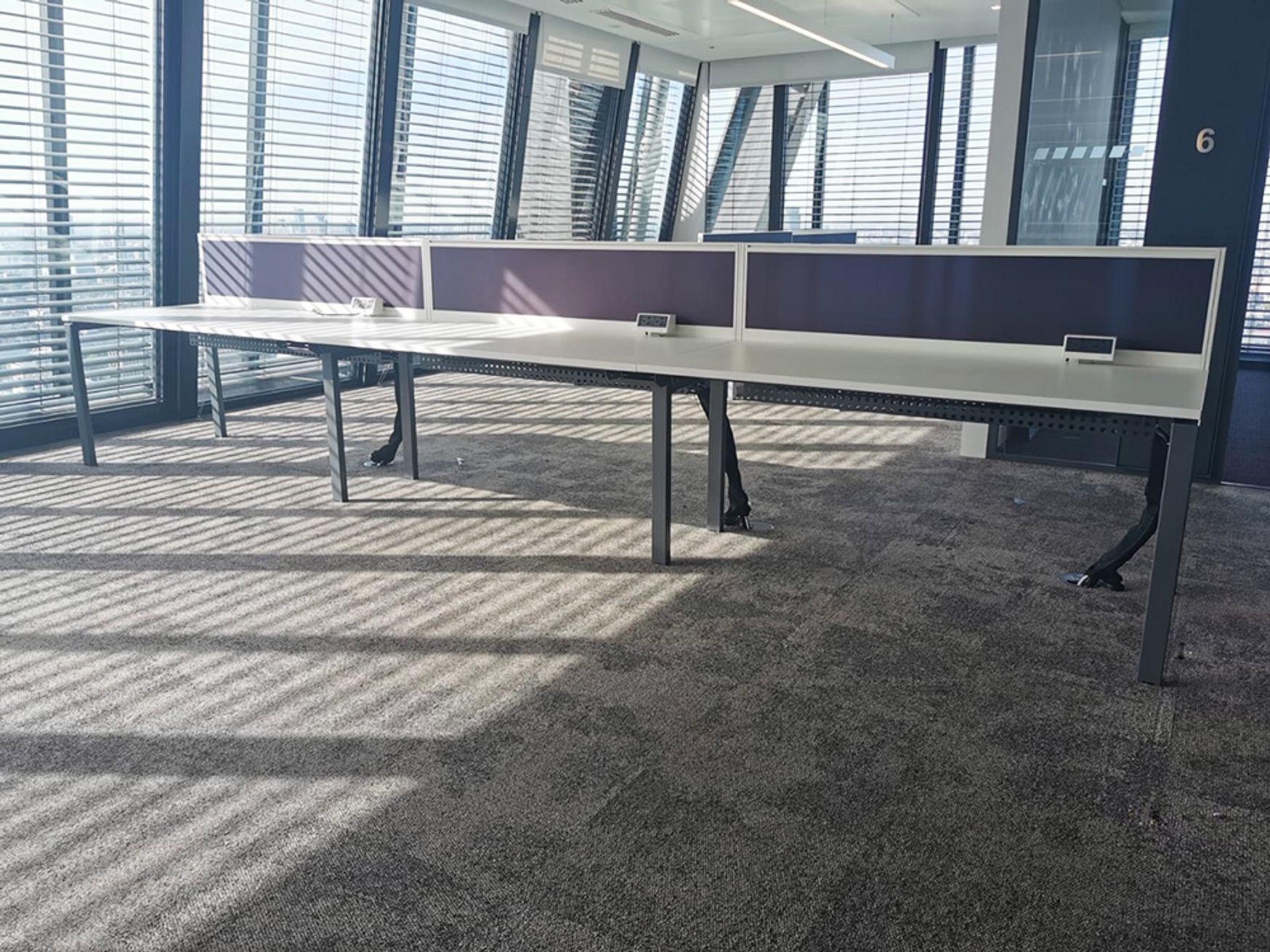 6 x 3-person side-by-side Task 'Team2' bench desks (18 x desk positions)