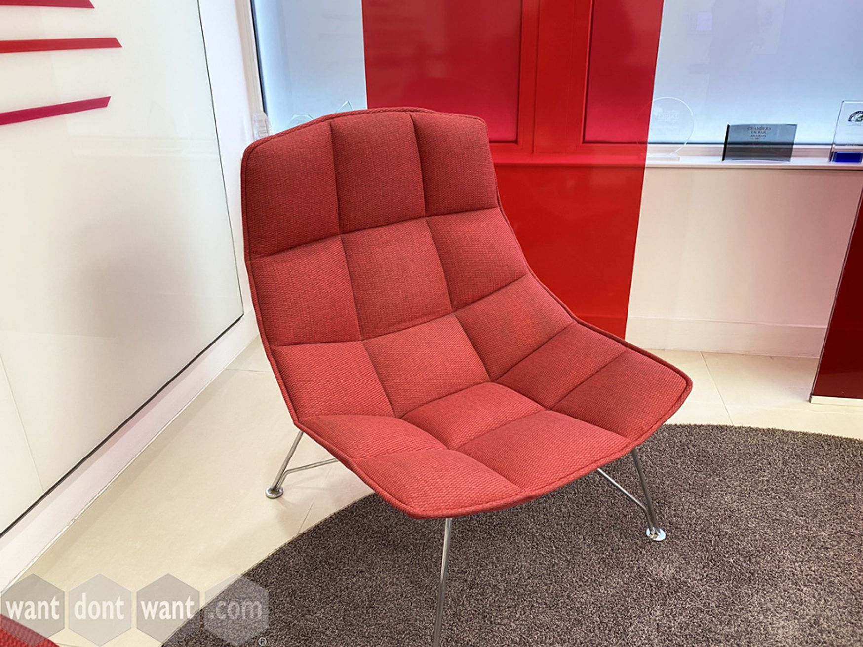 Used Knoll Jehs+Laub Wire 'Lounge Chairs' upholstered in high quality fabric