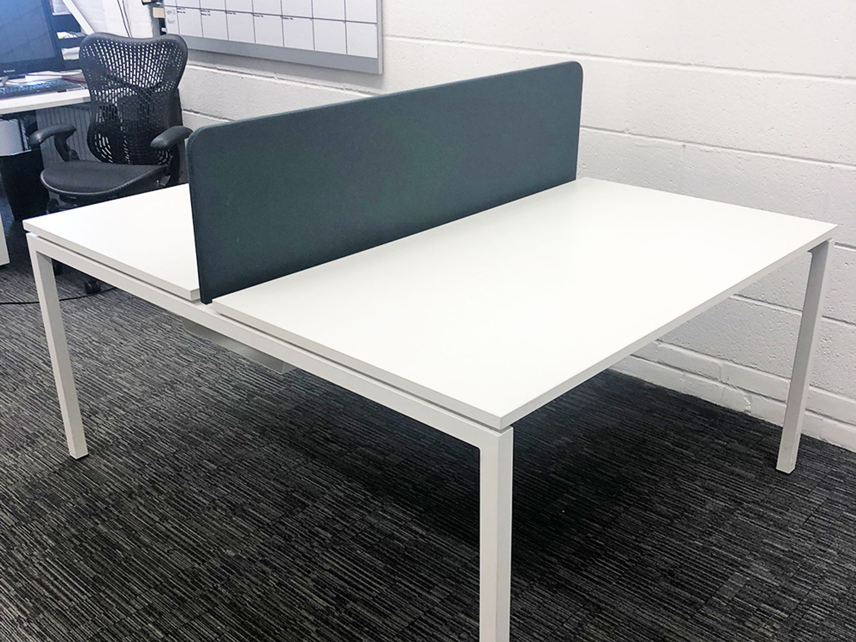 Used 1400mm White Bench Desks - Various Configurations