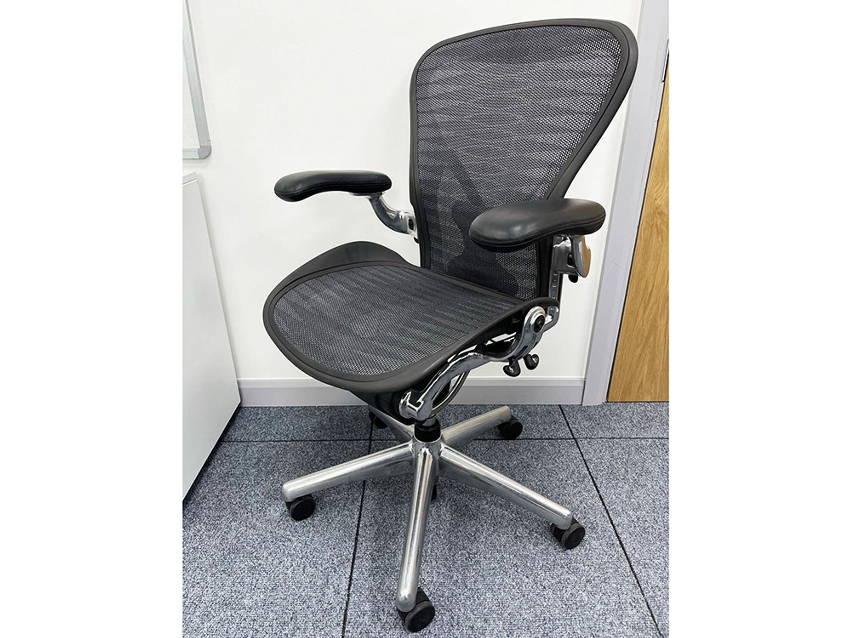 Used Herman Miller Executive Aeron Chairs with Polished Base