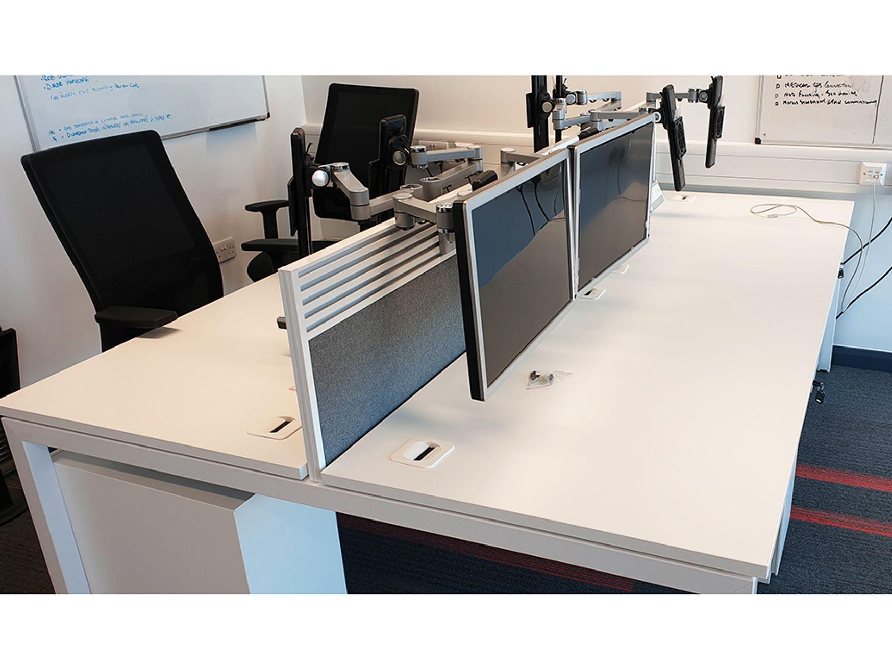 Used 1600mm Elite 'Matrix' White Bench Desks