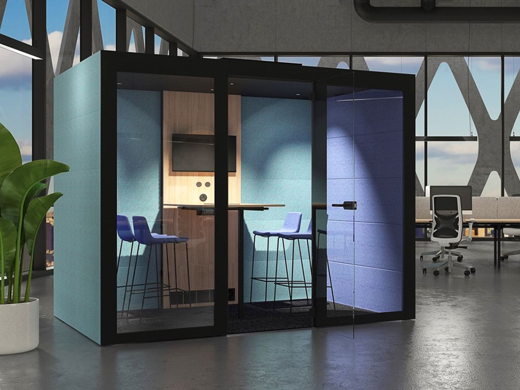 Brand New Customisable Acoustic Meeting Pod with Lighting & Ventilation