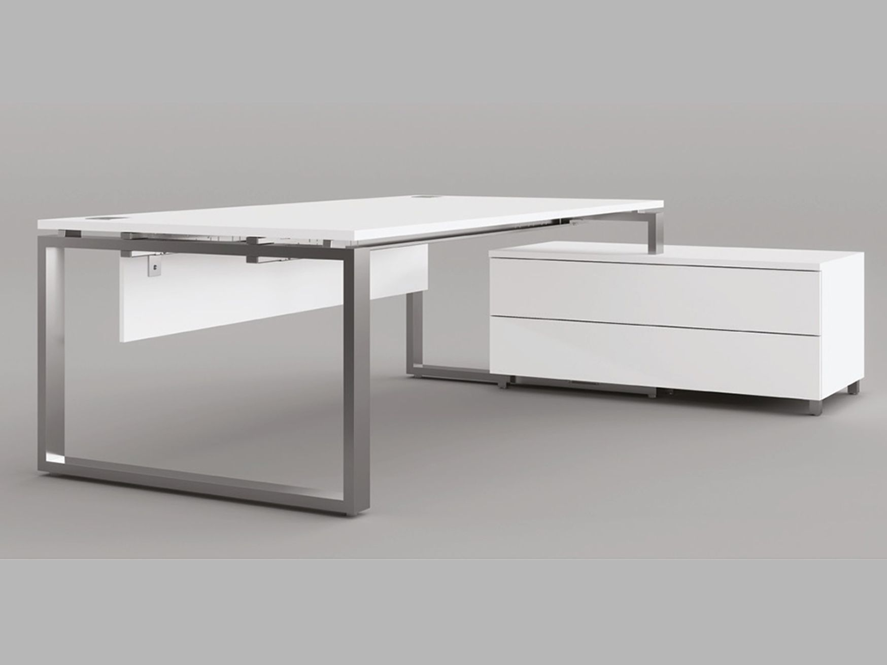 Beautiful executive desks with chrome loop Legs