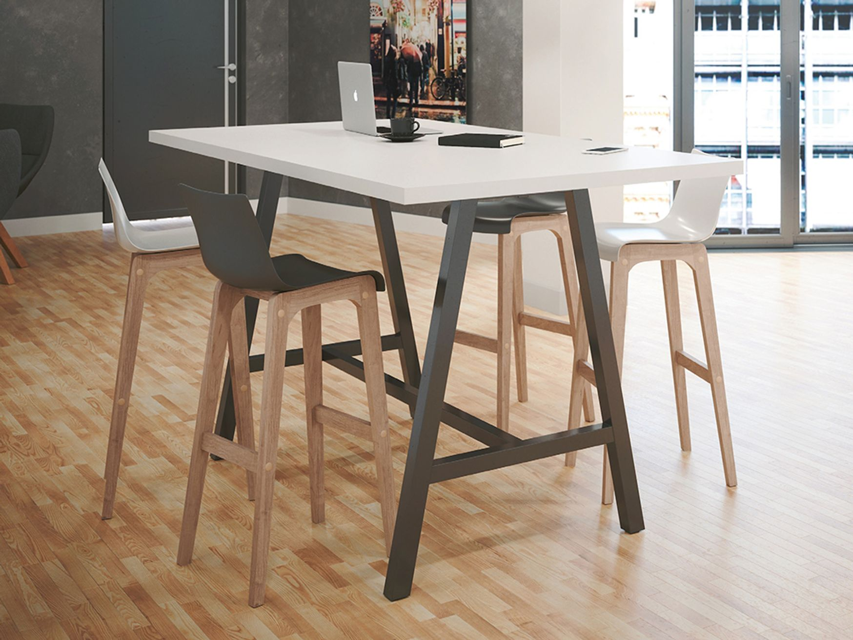 Brand new High Tables with Industrial Style Arch Leg