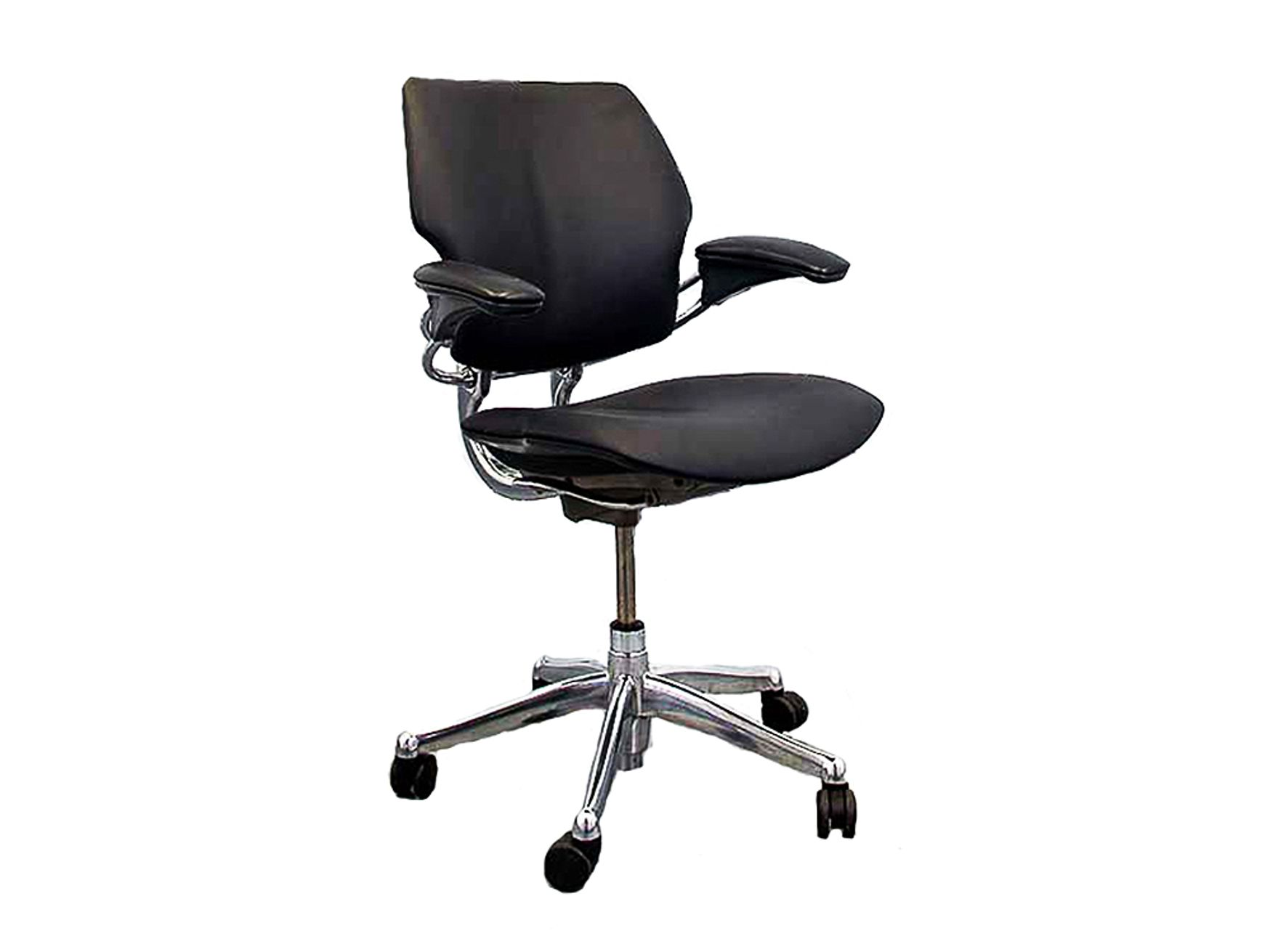 Refurbished Humanscale Freedom Chairs in Fabric with Aluminium Frame