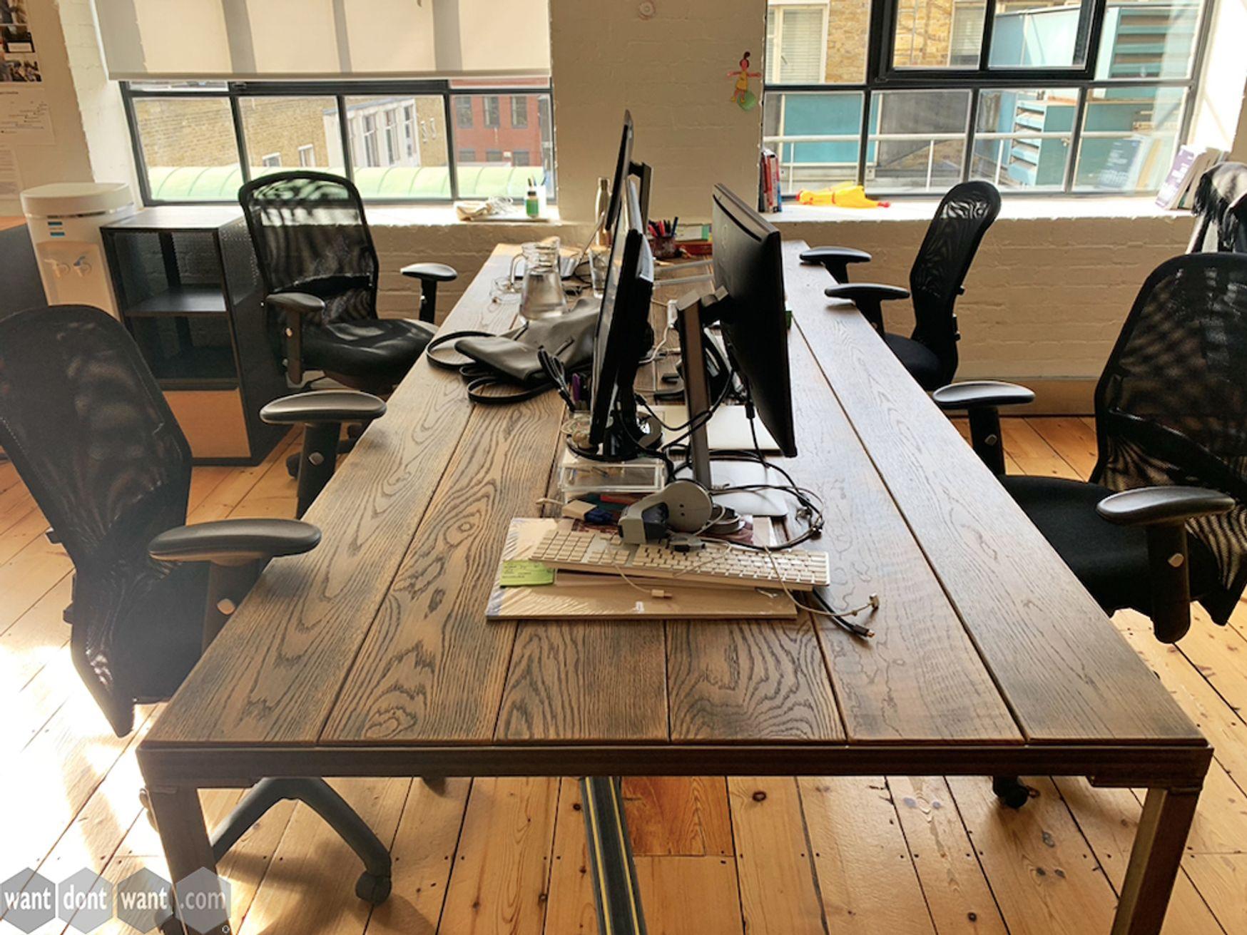 Used 3000mm Custom Made 'Steel Vintage' Desks