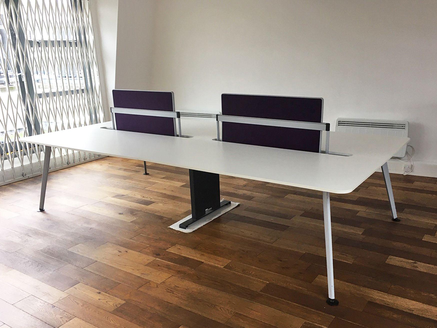 Used 1800mm White Bench Desk