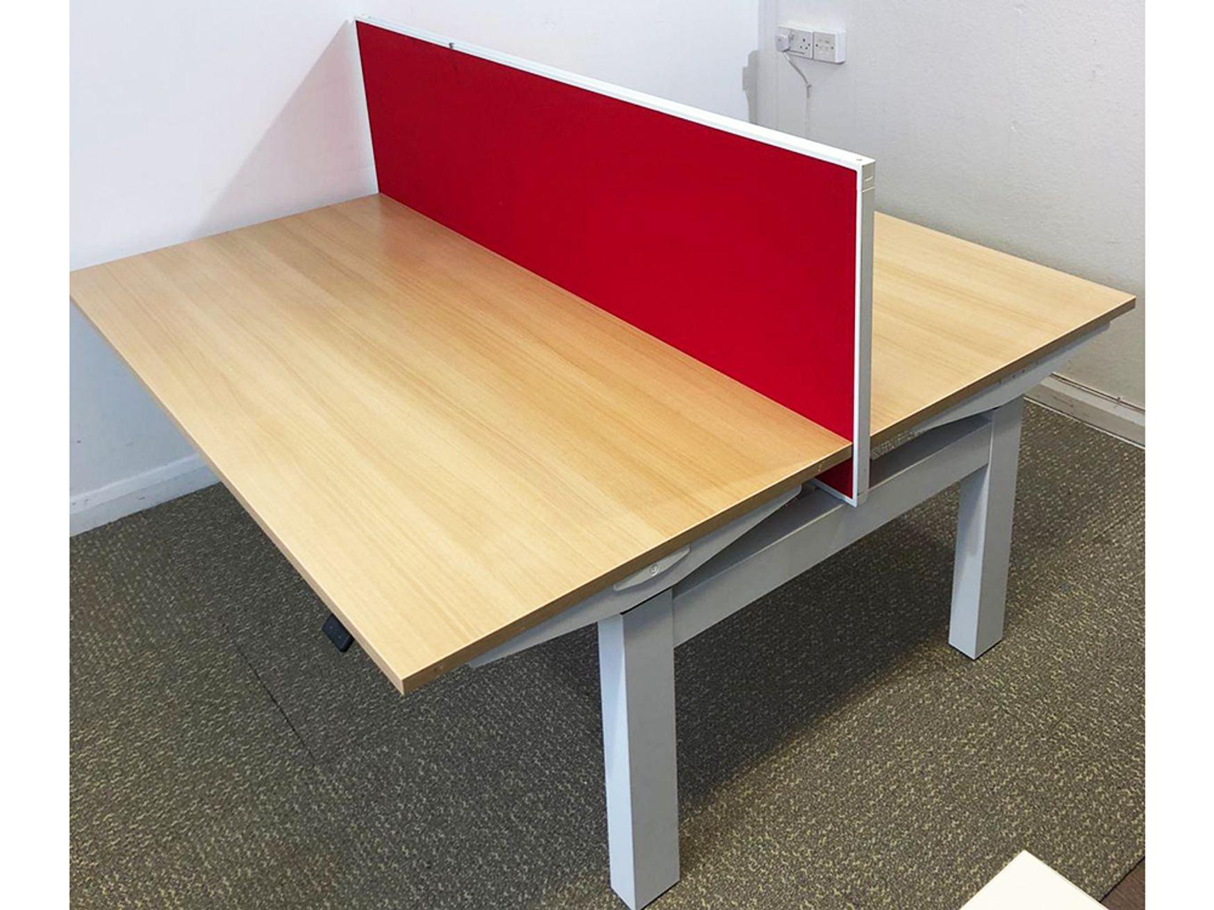 Used 1600mm Herman Miller Electric Sit Stand Bench Desks