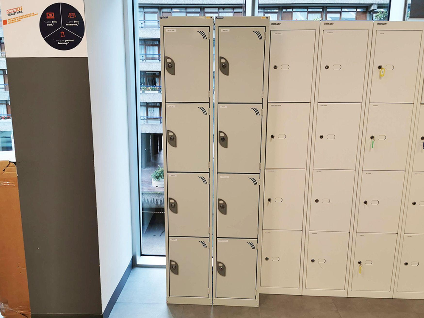 Used QMP Steel 4 Door Lockers