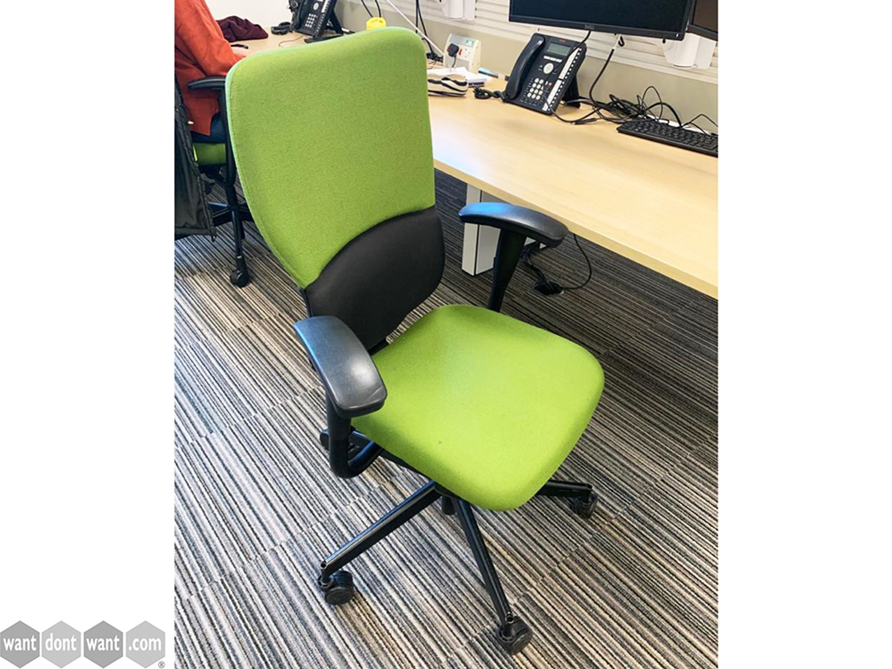 Used Steelcase Lets B Two Tone Operator Chairs