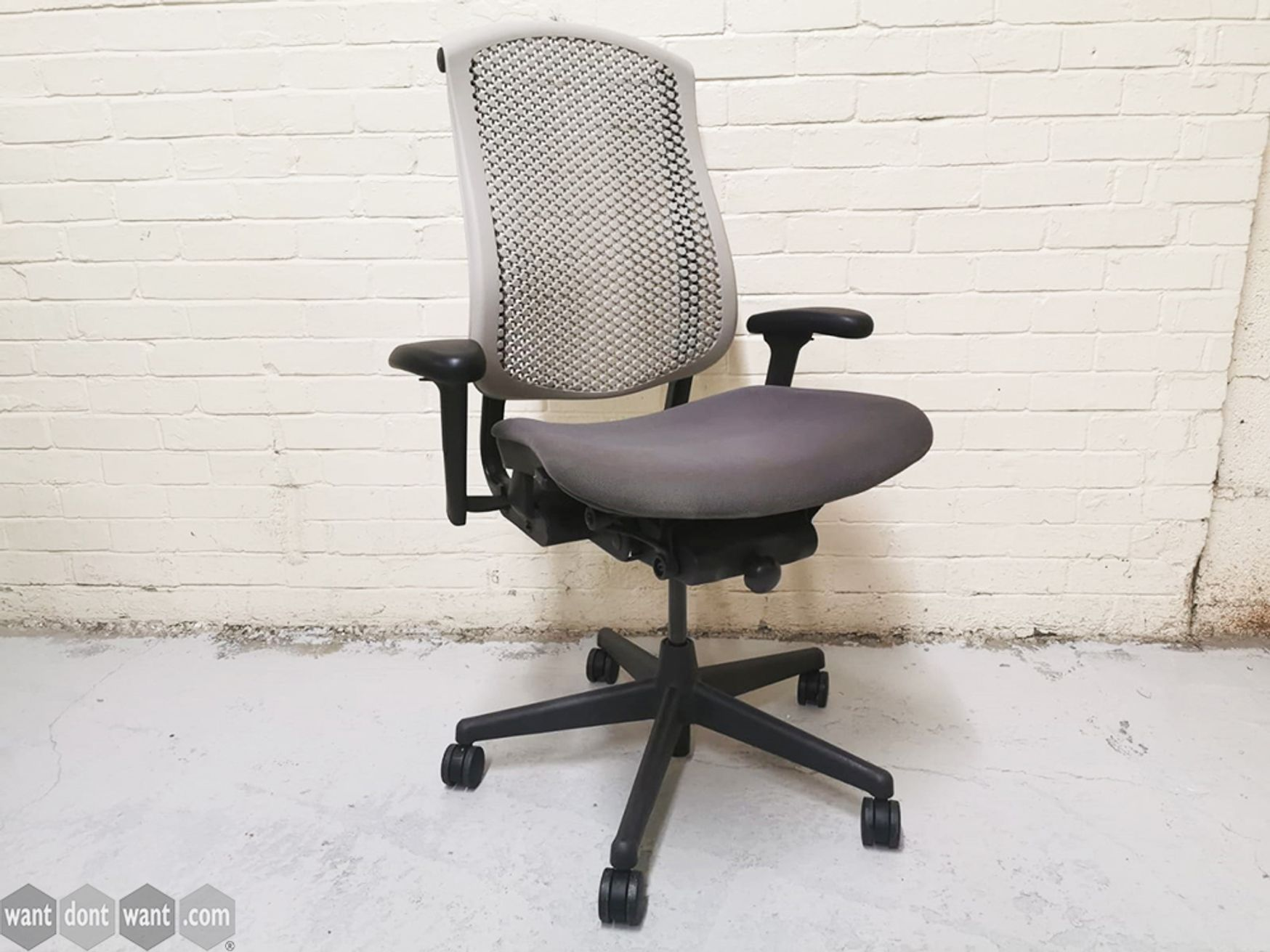 Used Herman Miller Celle Chair with Cream Back