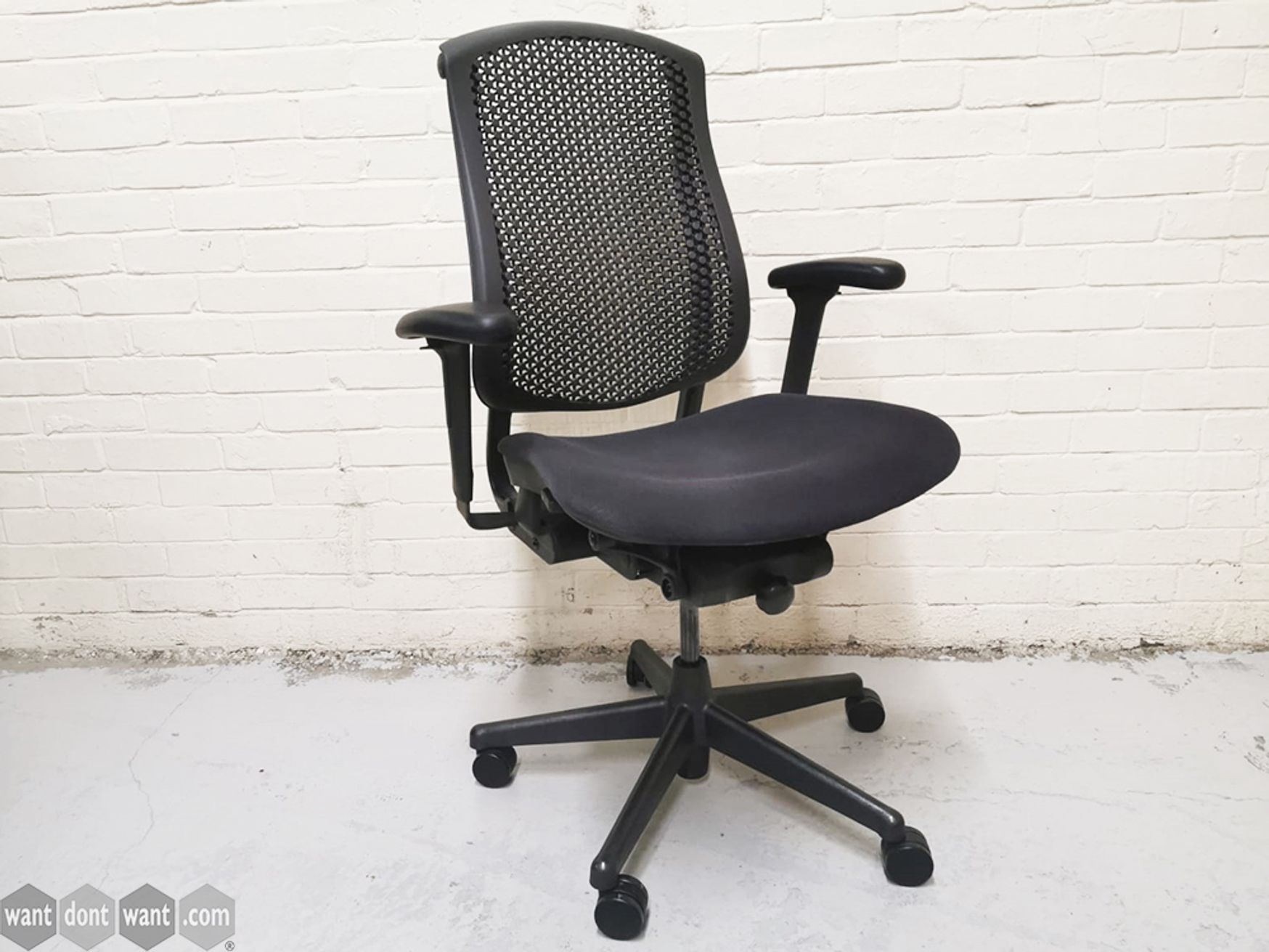 Used Herman Miller Celle Chairs with Fabric Seat