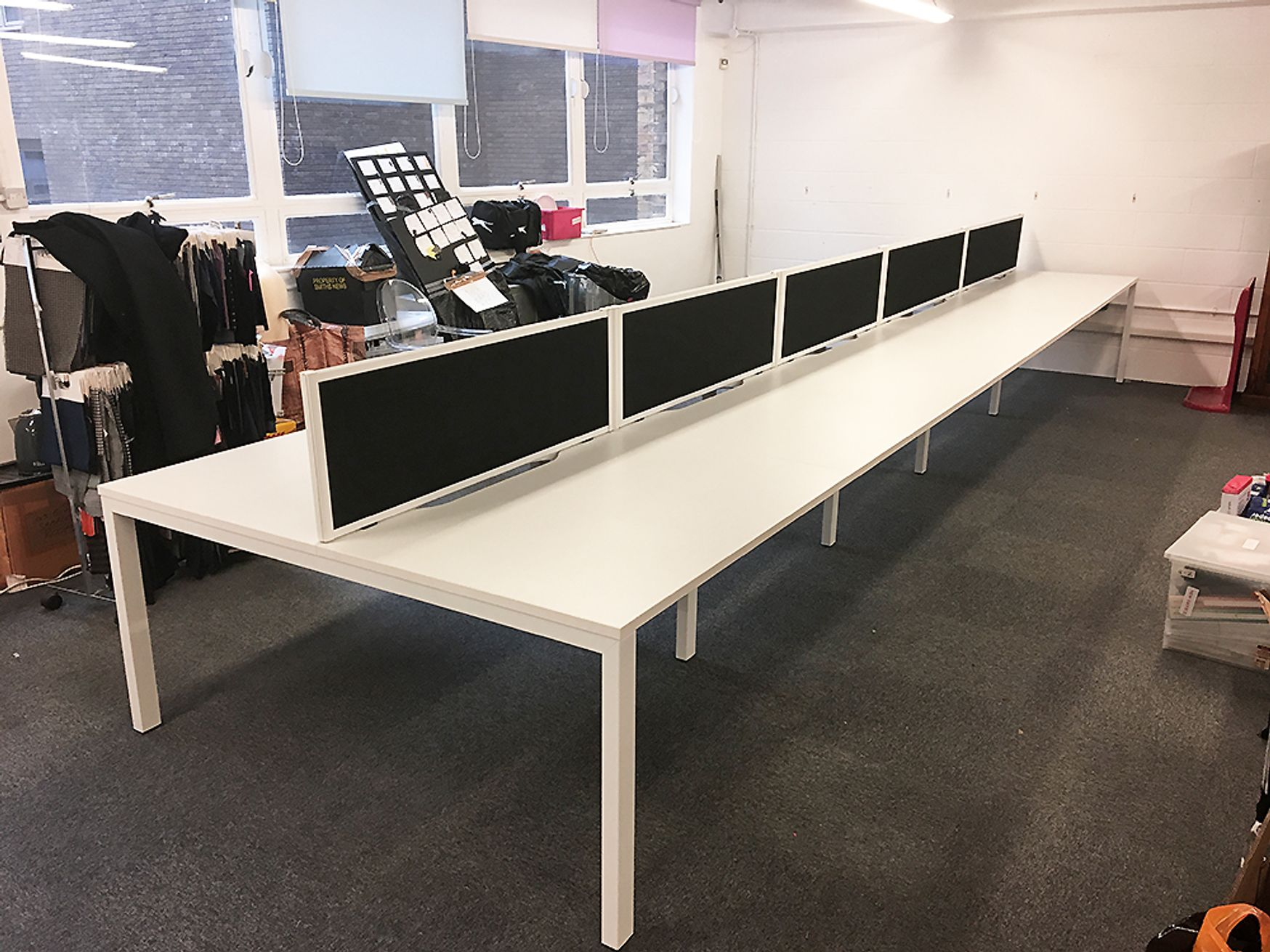Further view of the White Bench Desks shown in the previous photo