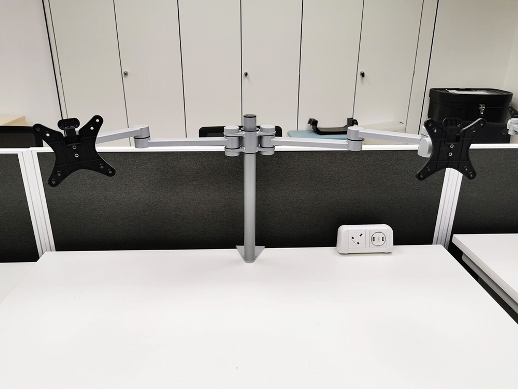 Used CMD Twin Monitor Arms with 25mm Universal Clamps