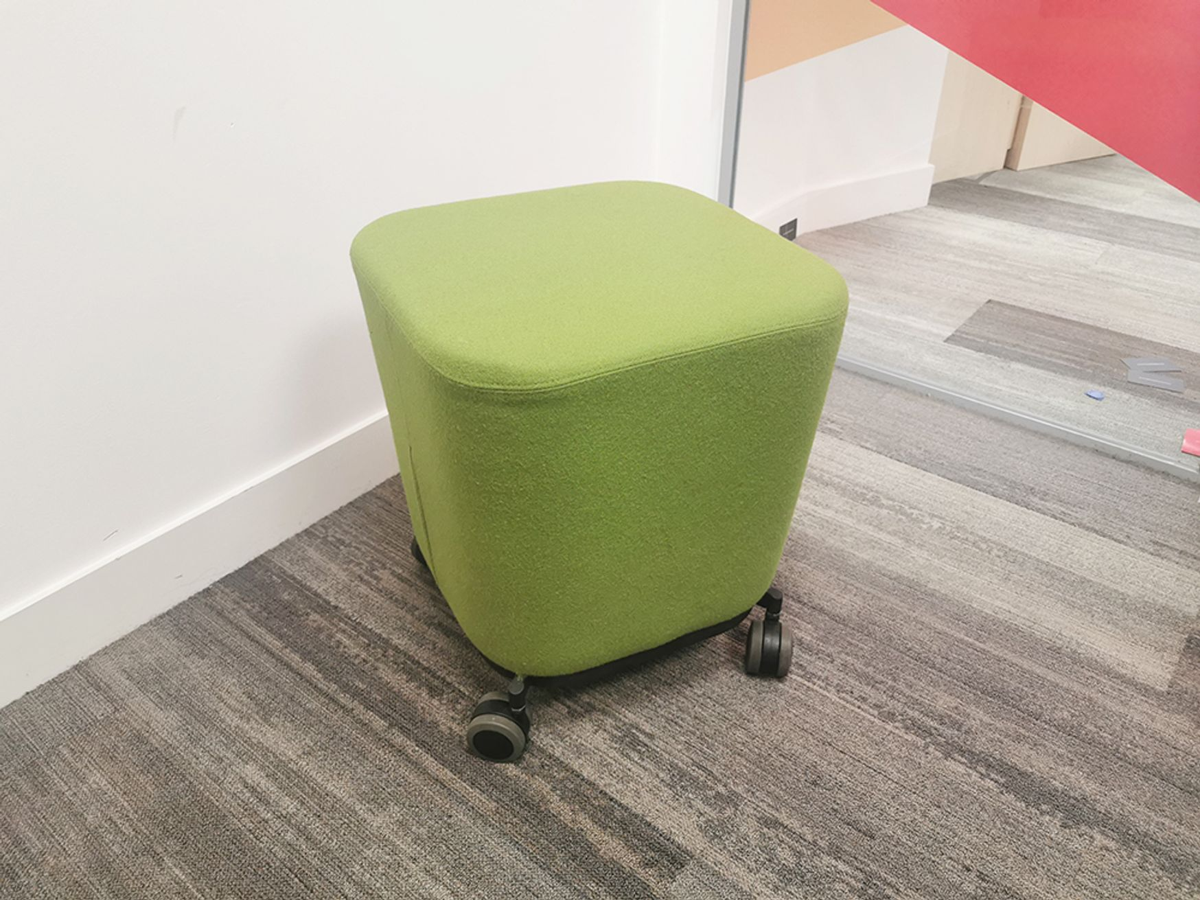 Used Allermuir Fabric Stools on Wheels