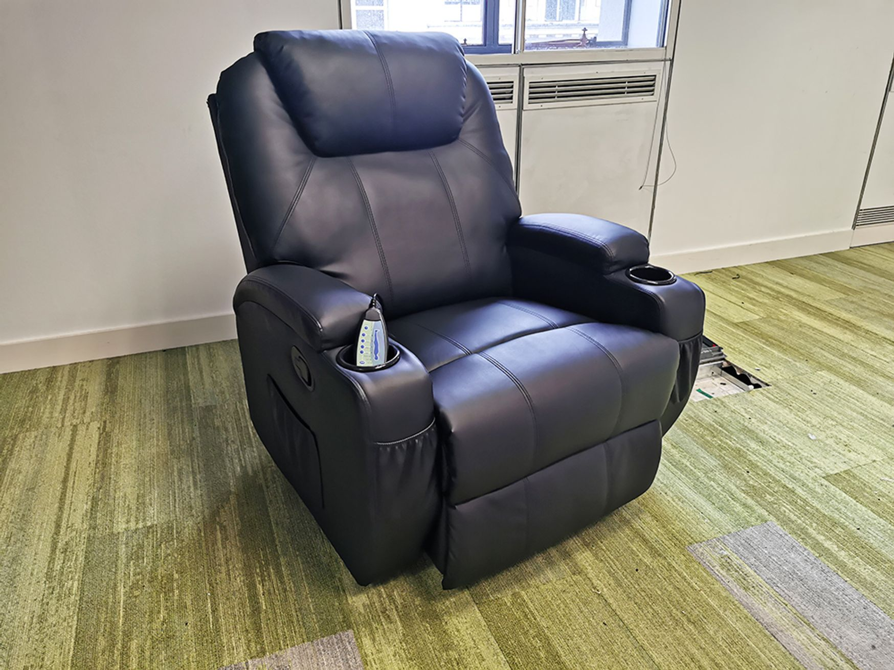 Used Faux Leather Massage Armchair