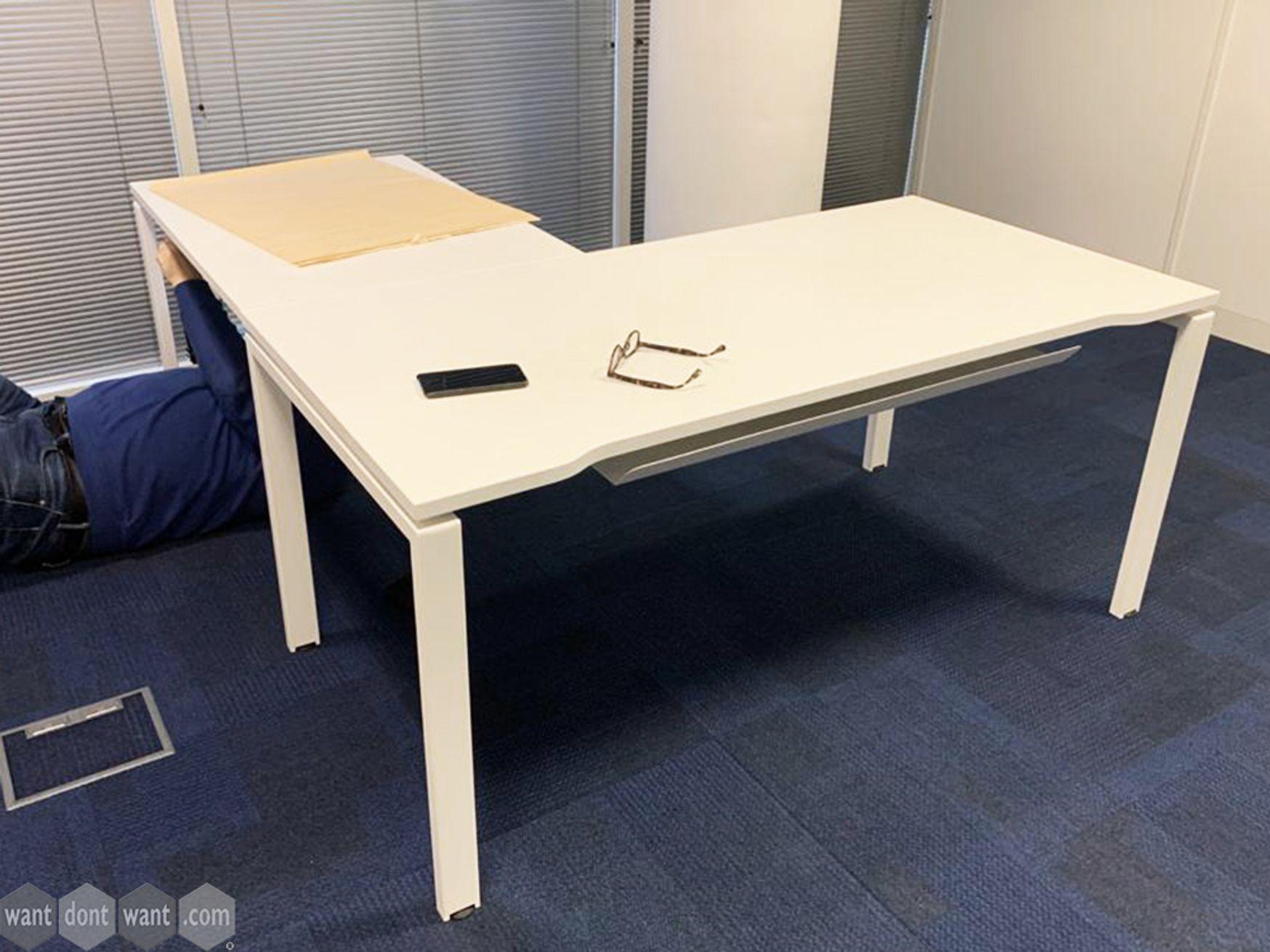 Used White Corner Desk