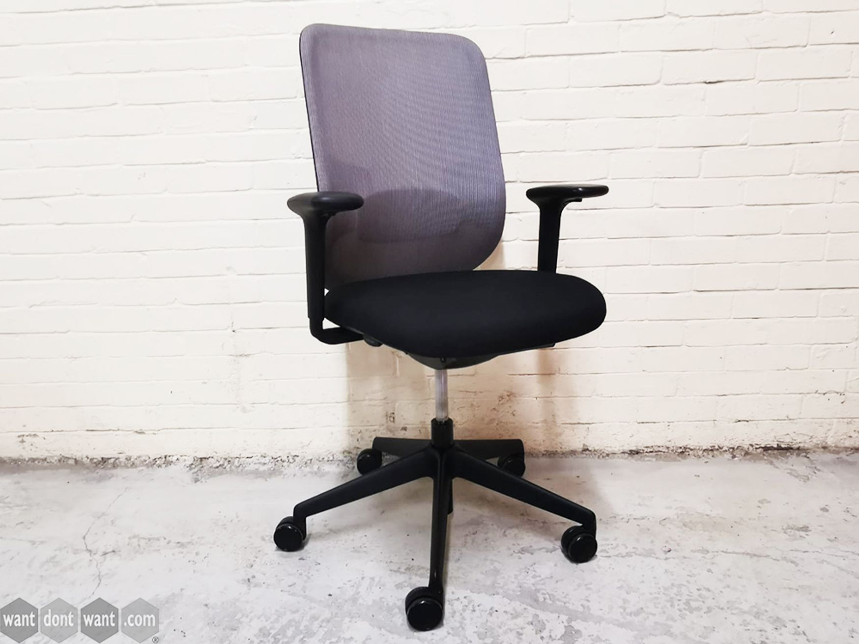 Used Orangebox Do Operator Chairs with Newly Re-upholstered Black Fabric Seats