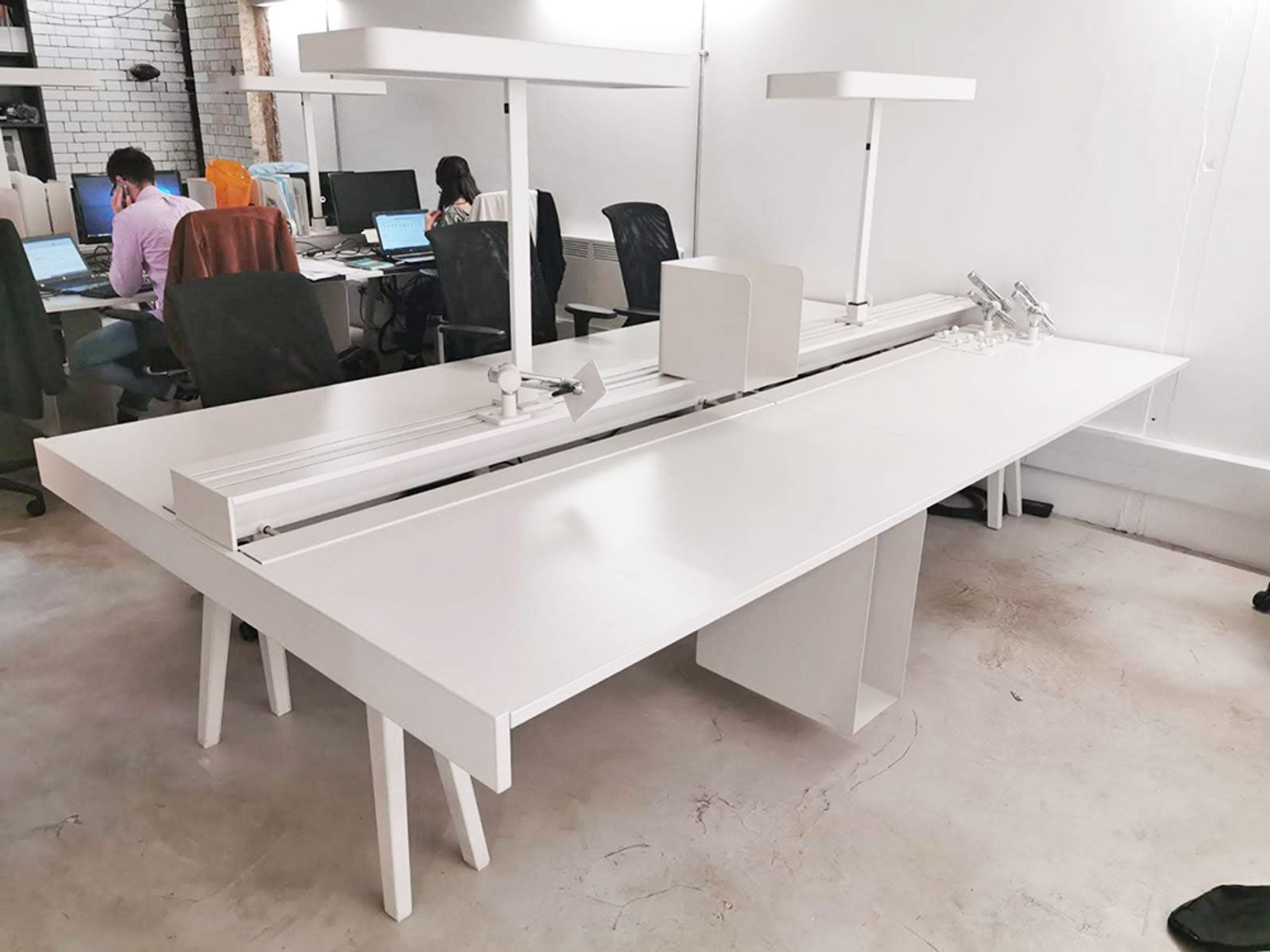 Used 1600mm Vitra Joyn Bench Desk with Accessories