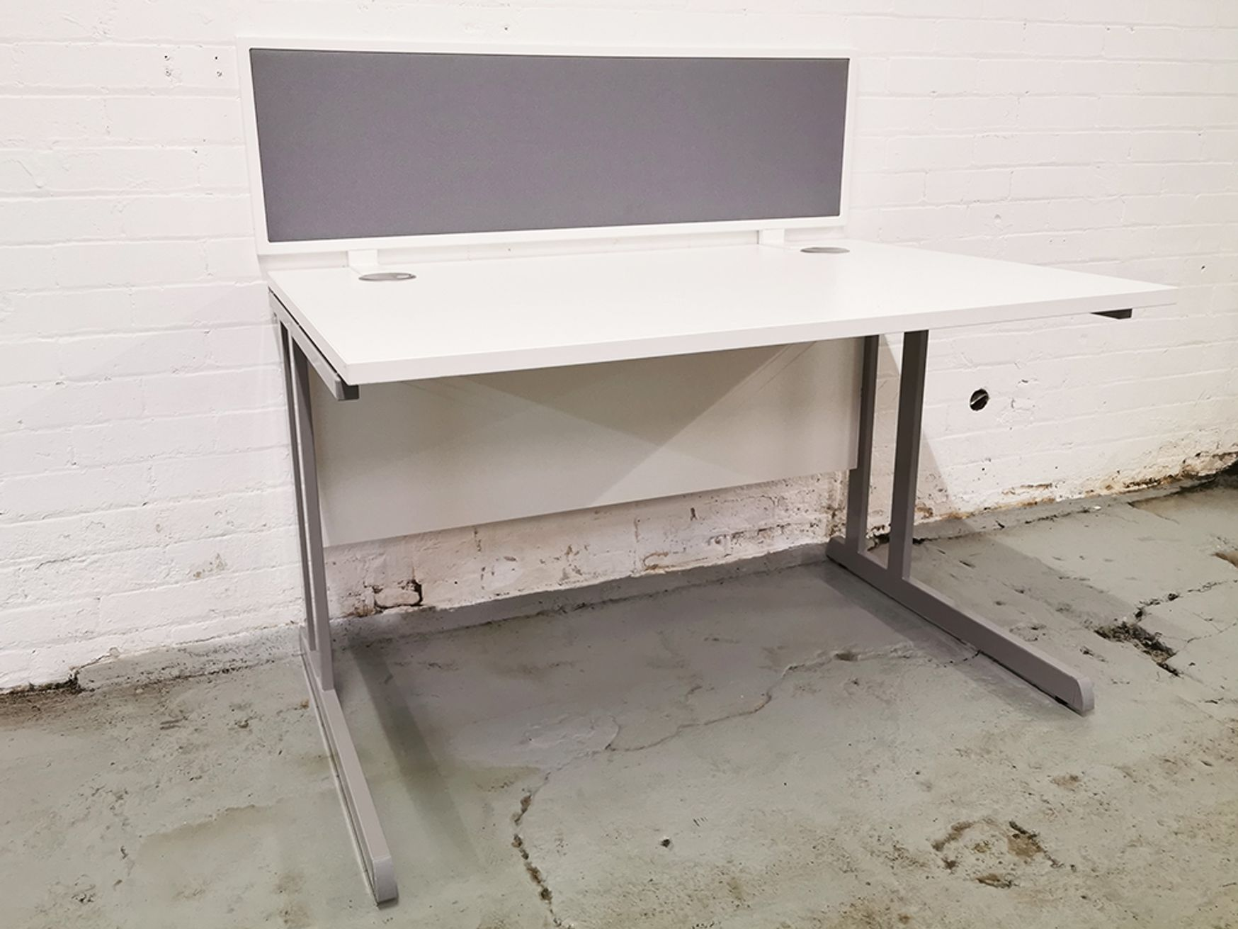 Used 1200mm Single White Desks - Screens sold separately