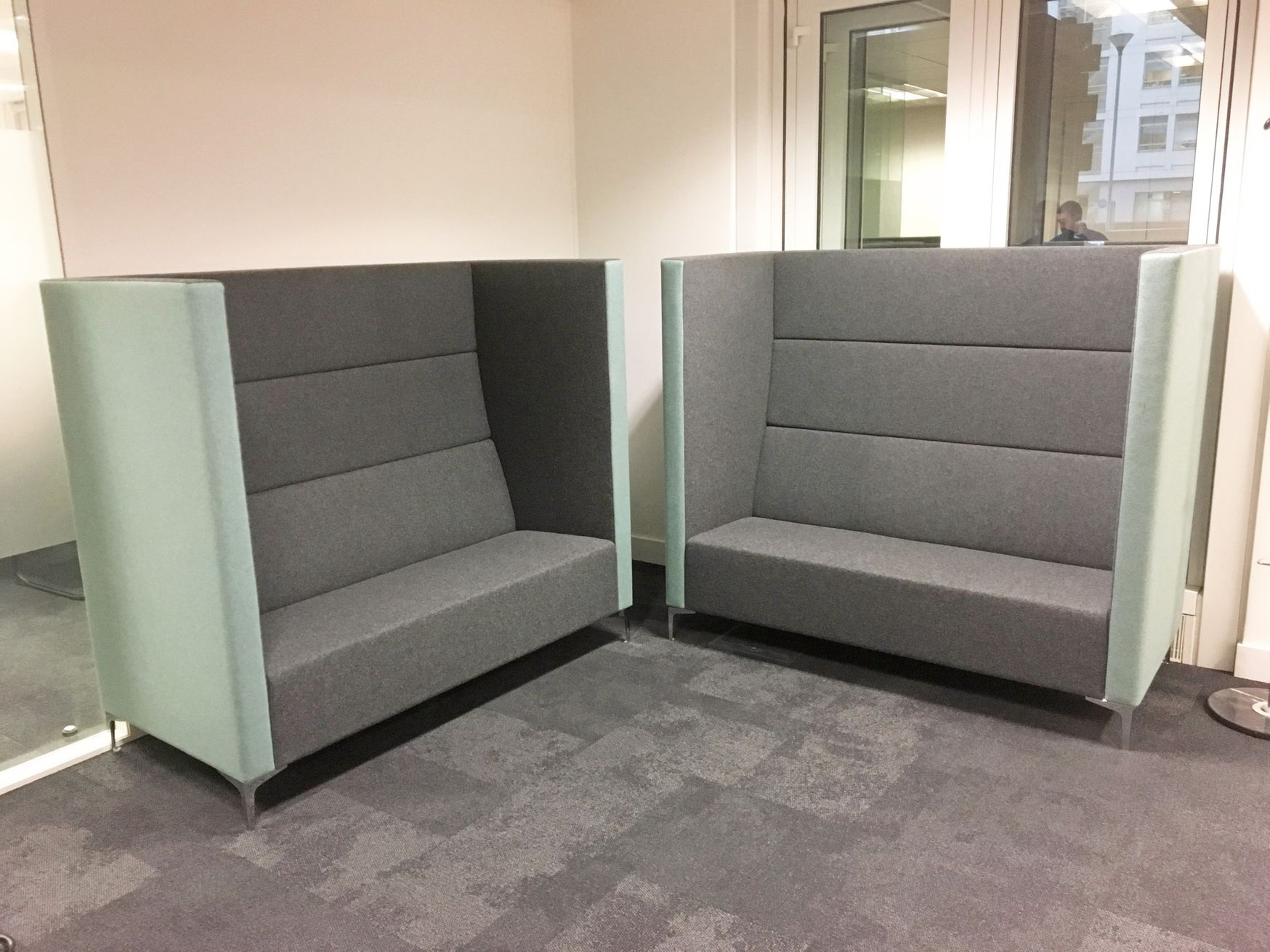 Further view of the Techo Cara Highline High Back Office Sofas shown in the previous photo