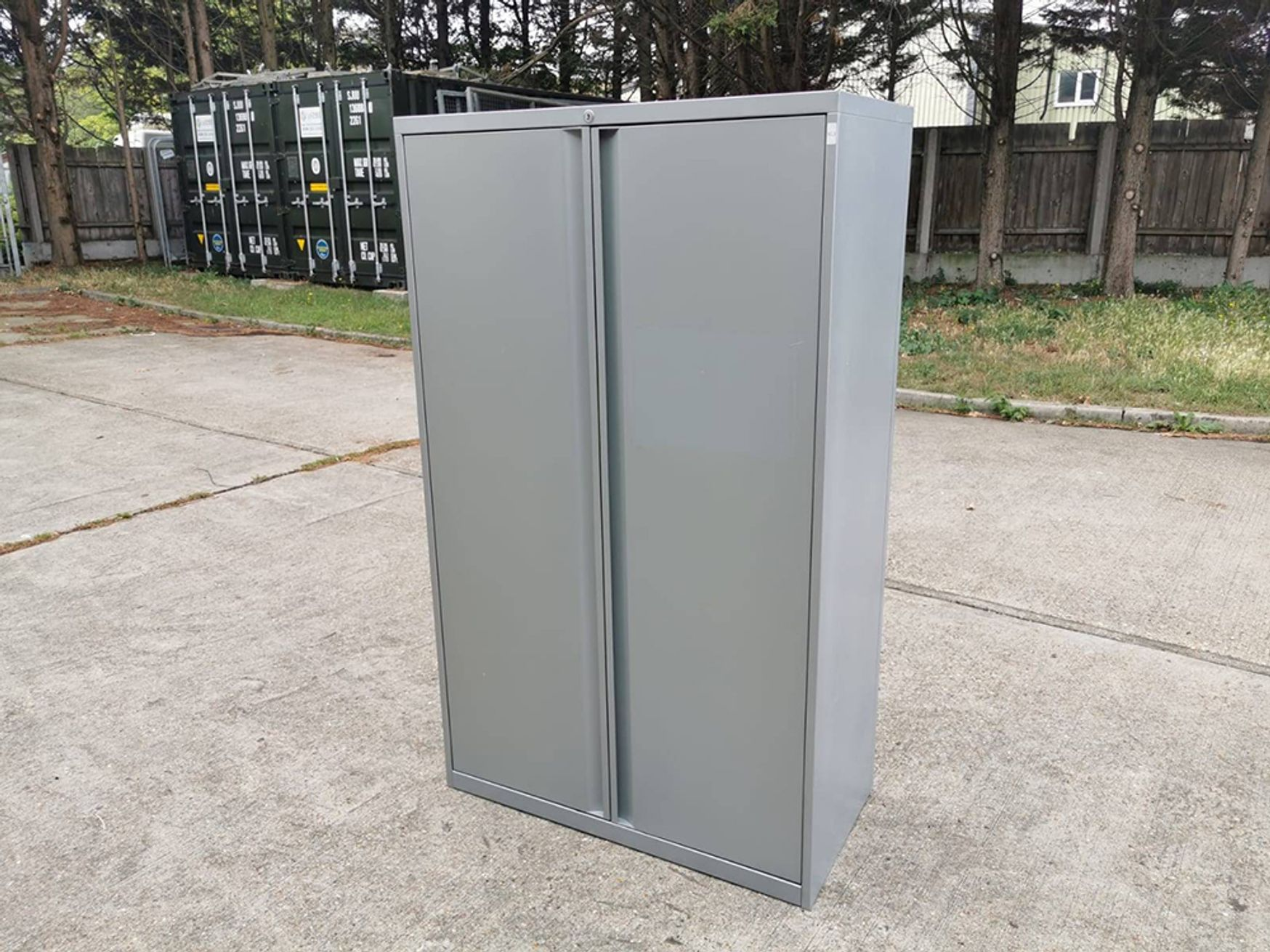 Used Teknion Double Door Cupboard with Shelves