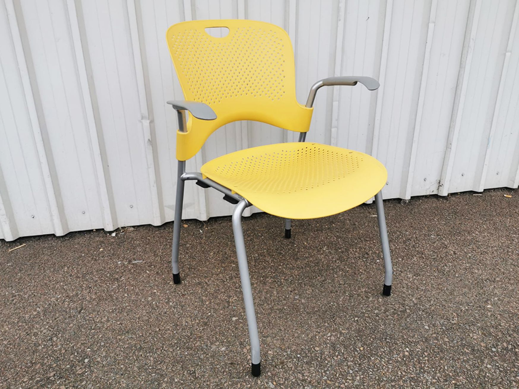 Used Herman Miller Yellow Caper Chairs with Arms