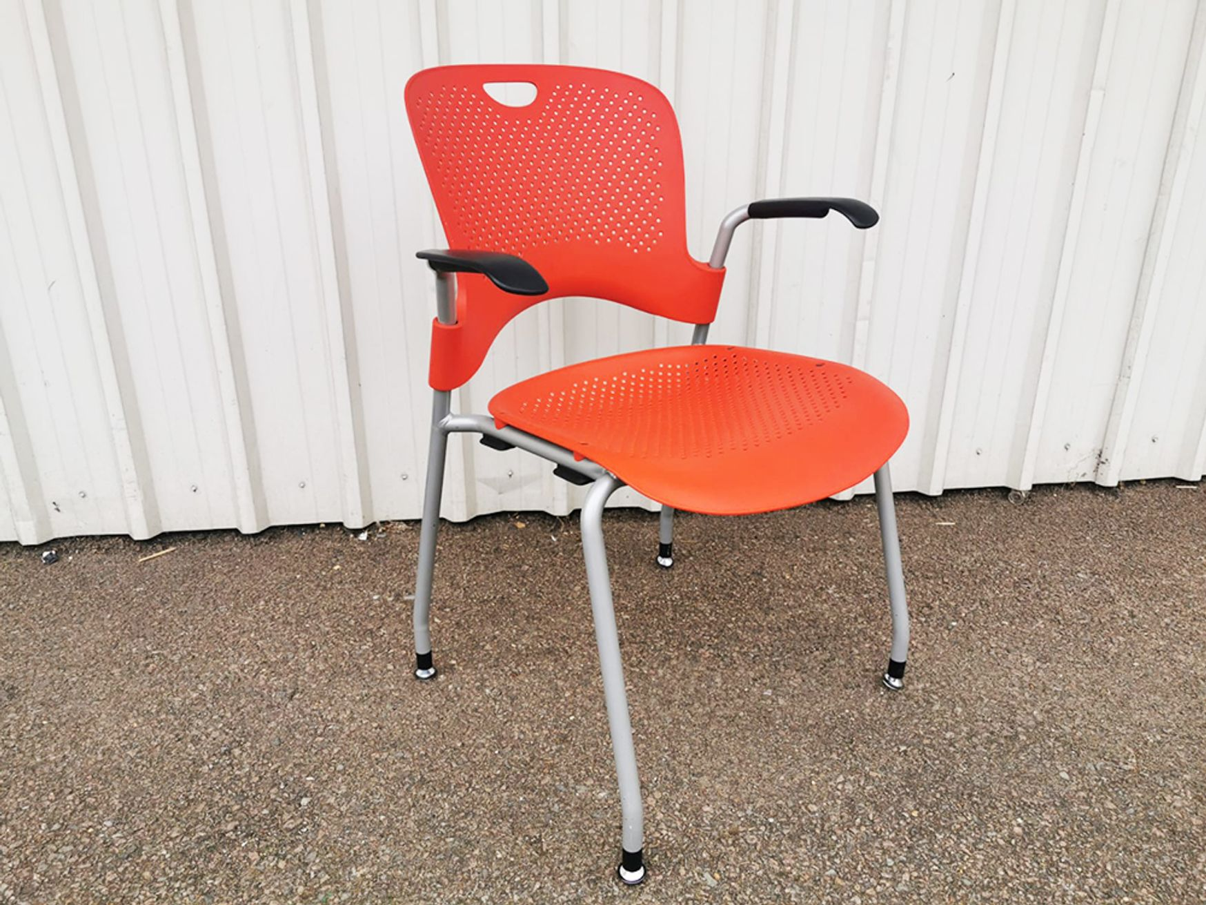 Used Herman Miller Red Caper Chairs with Arms