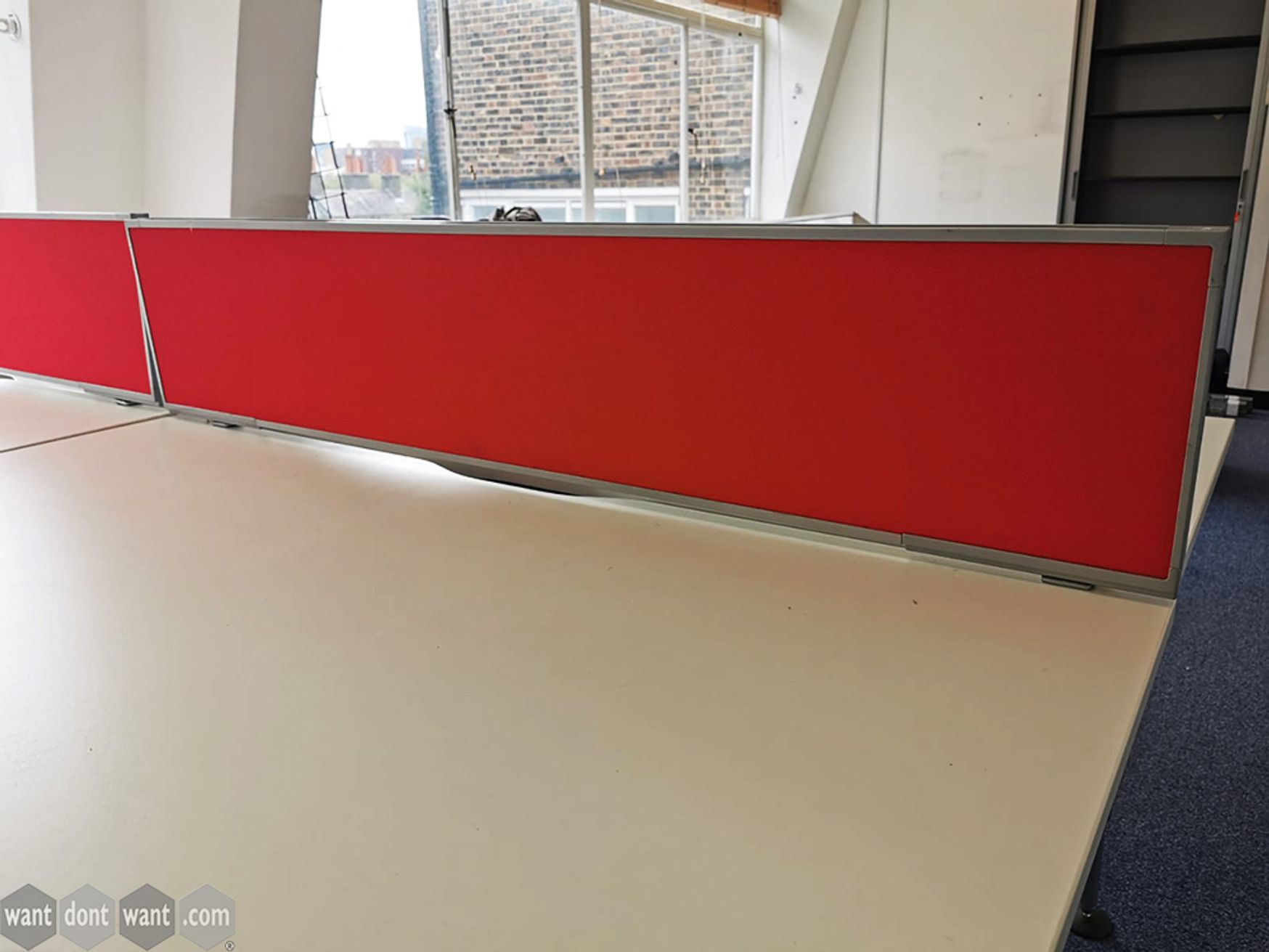 Used 1400mm Fabric Desk Dividing Screens with C Clamps