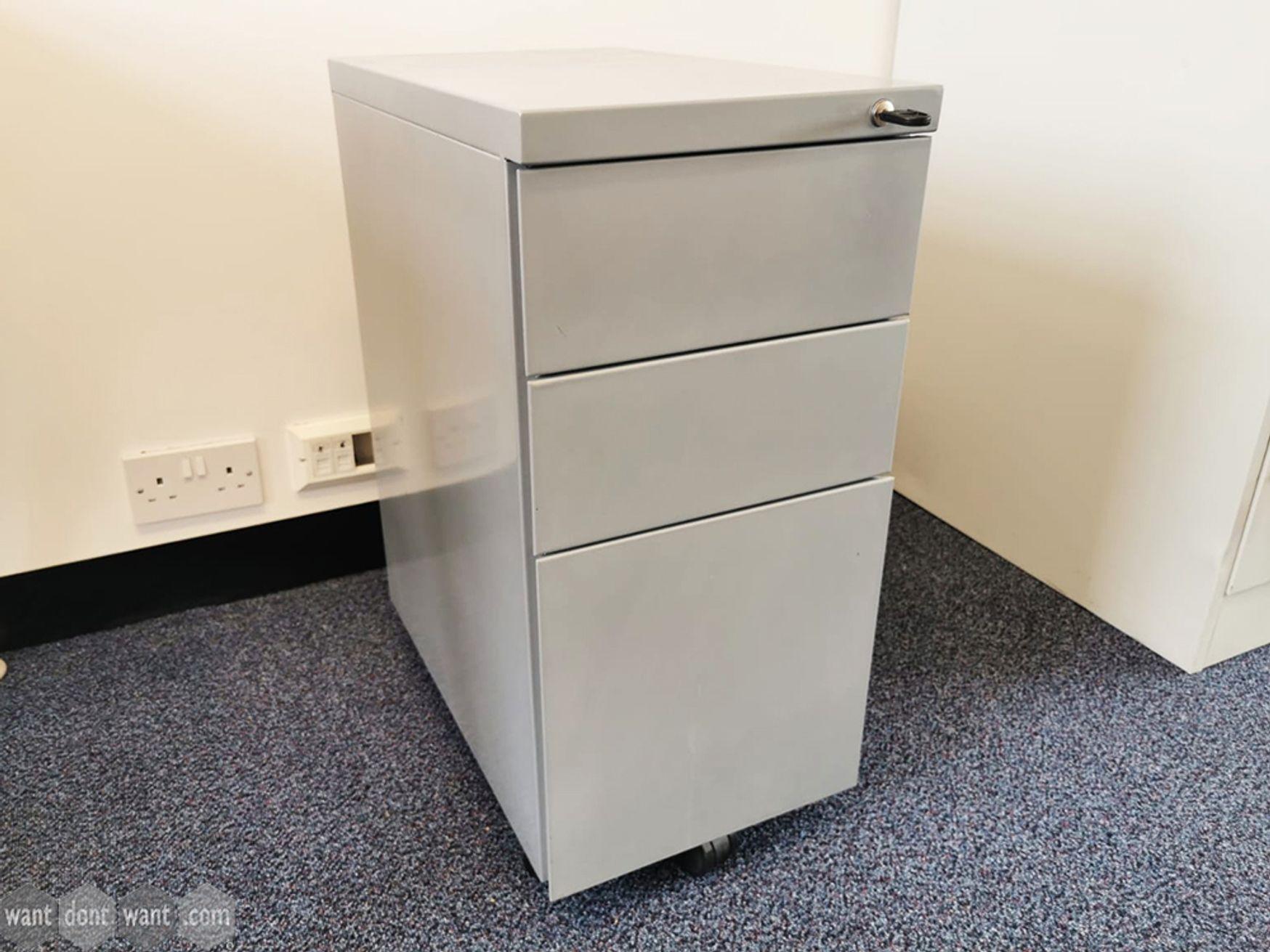 Used Slim Under Desk 3 drawer Pedestals