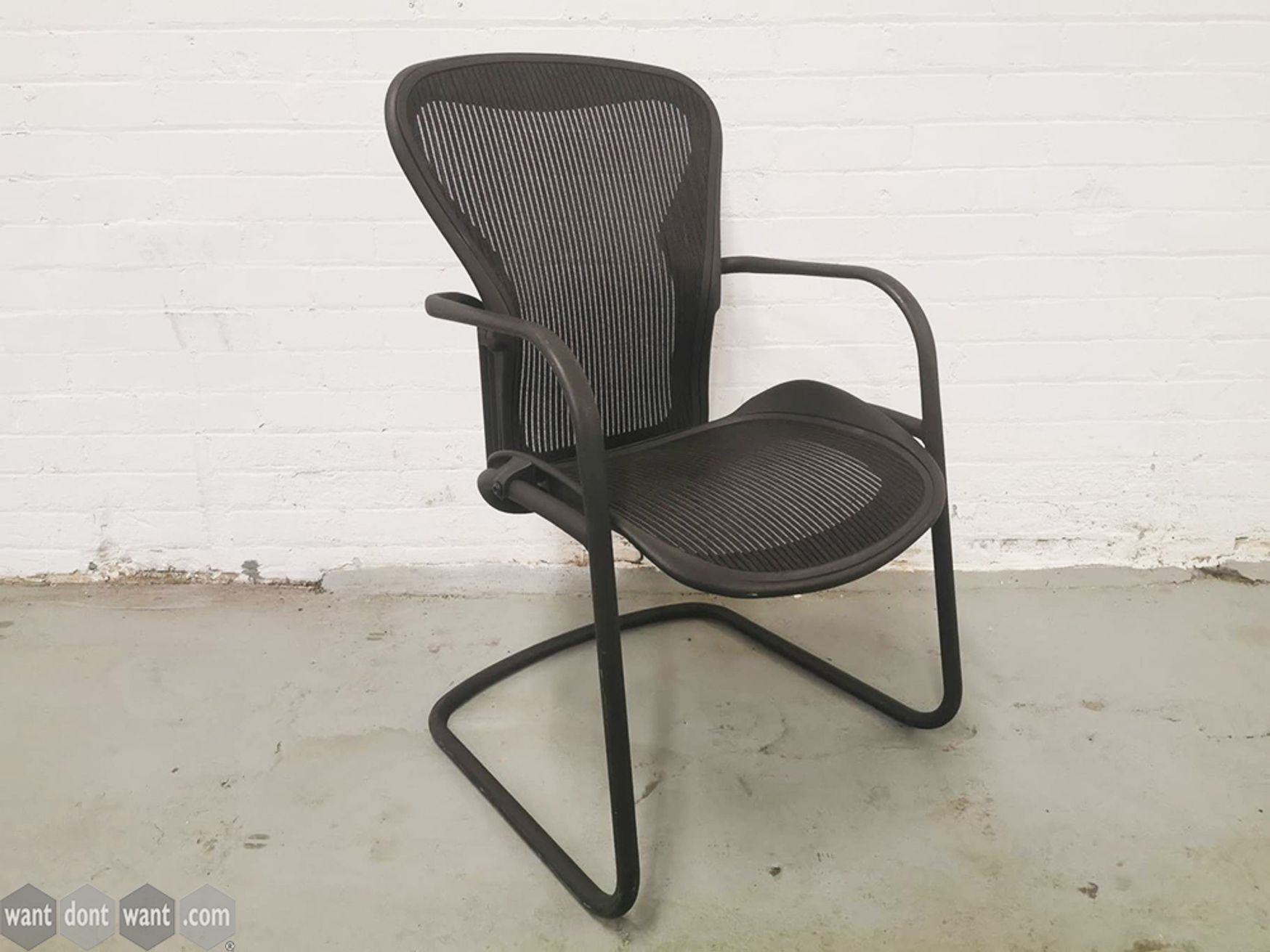 Used Herman Miller Aeron Cantilever Meeting Chairs