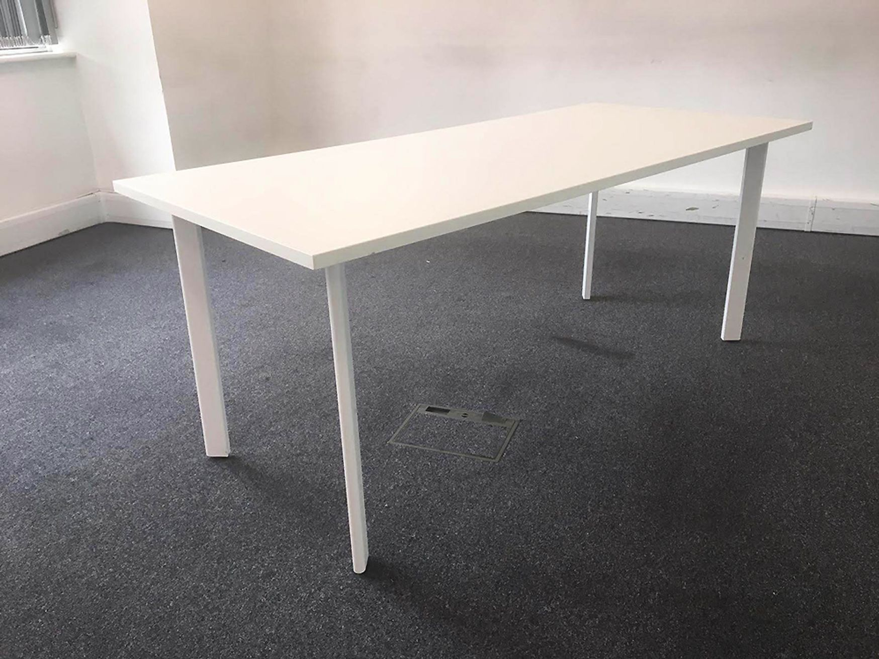Used 1800mm White Sven Meeting Tables