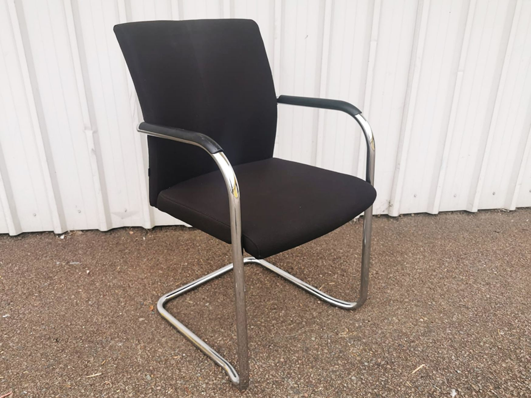 Used Klober Fabric Meeting Chairs with Chrome Cantilever Frame