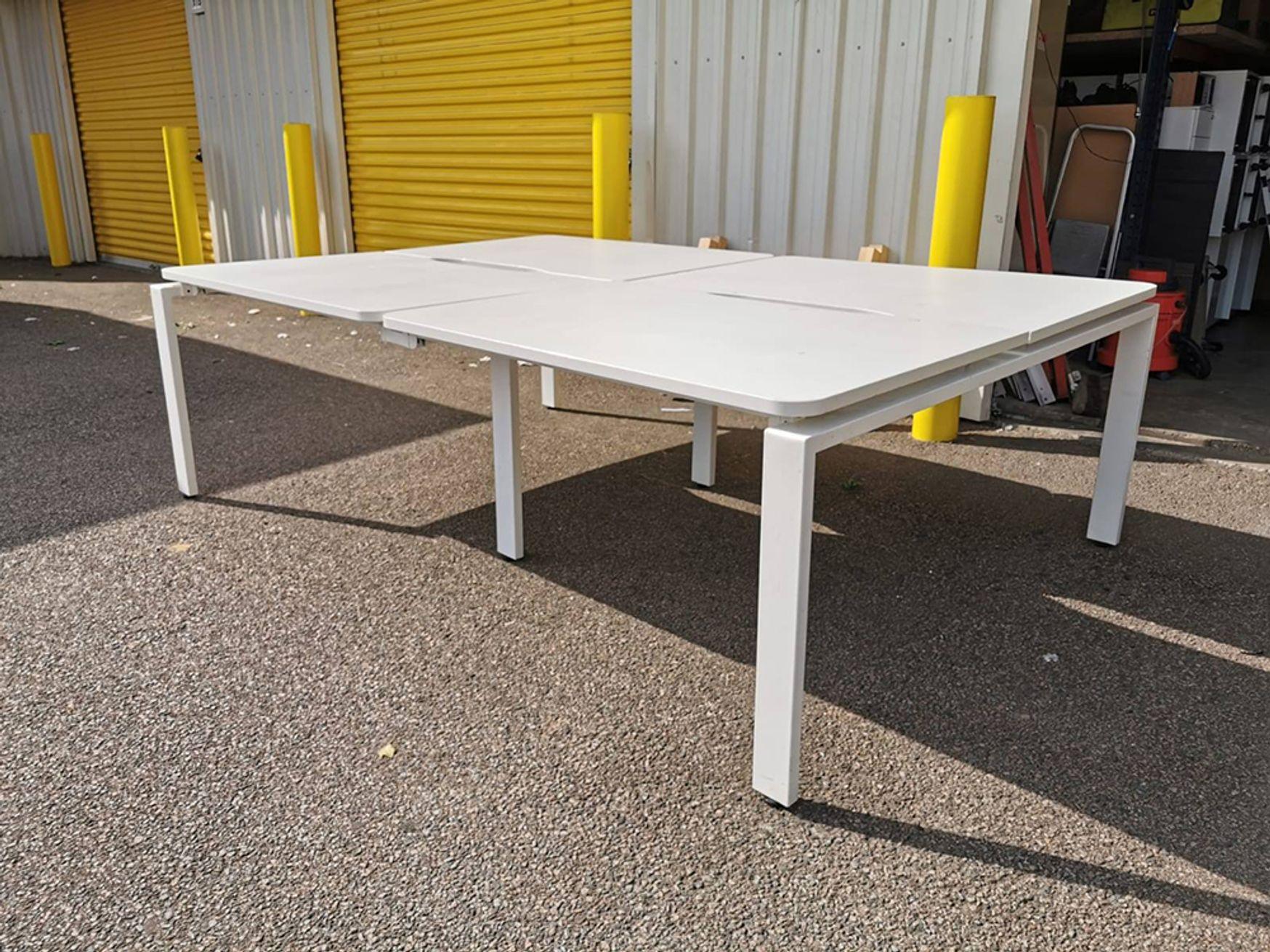 Used 1200mm Lee & Plumpton White Bench Desks