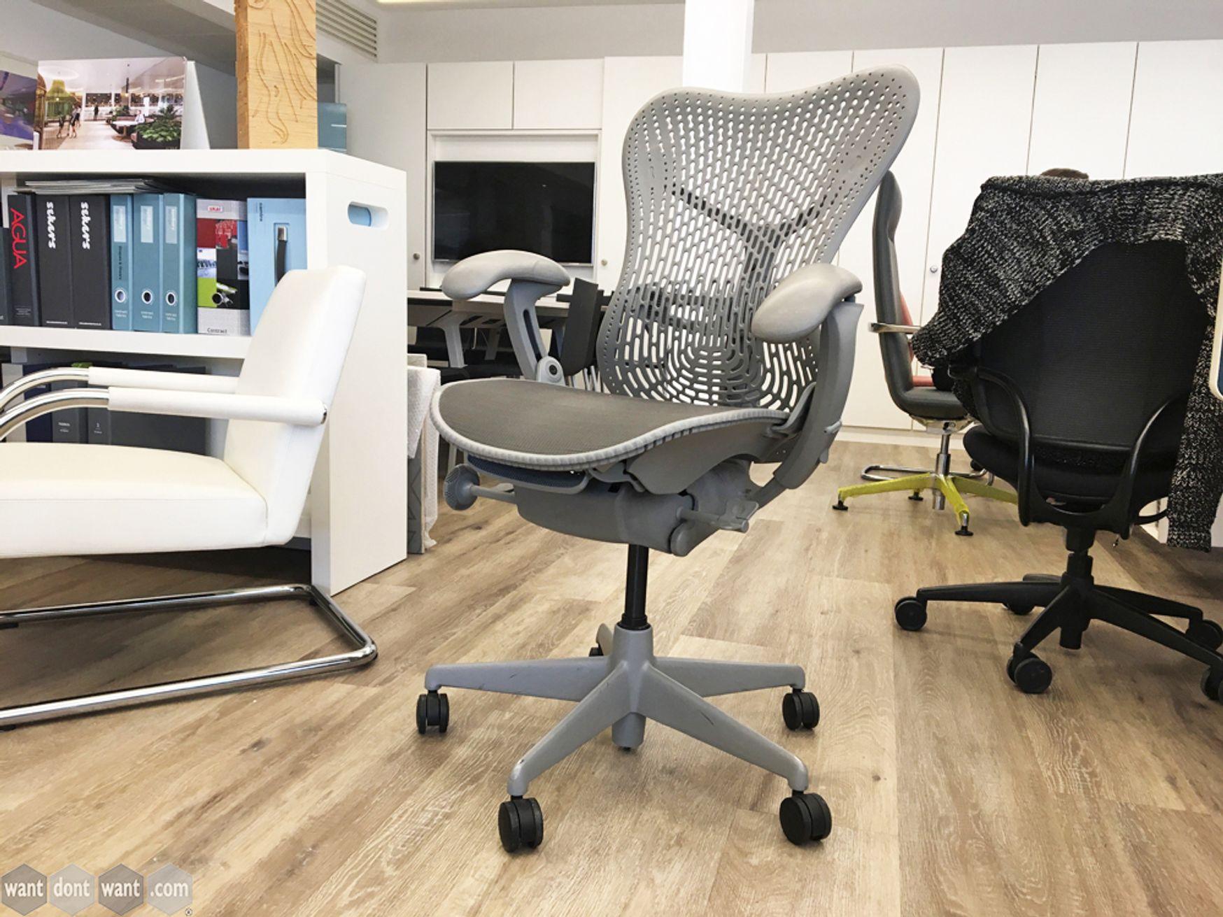 Used Herman Miller Mirra Chair in Grey