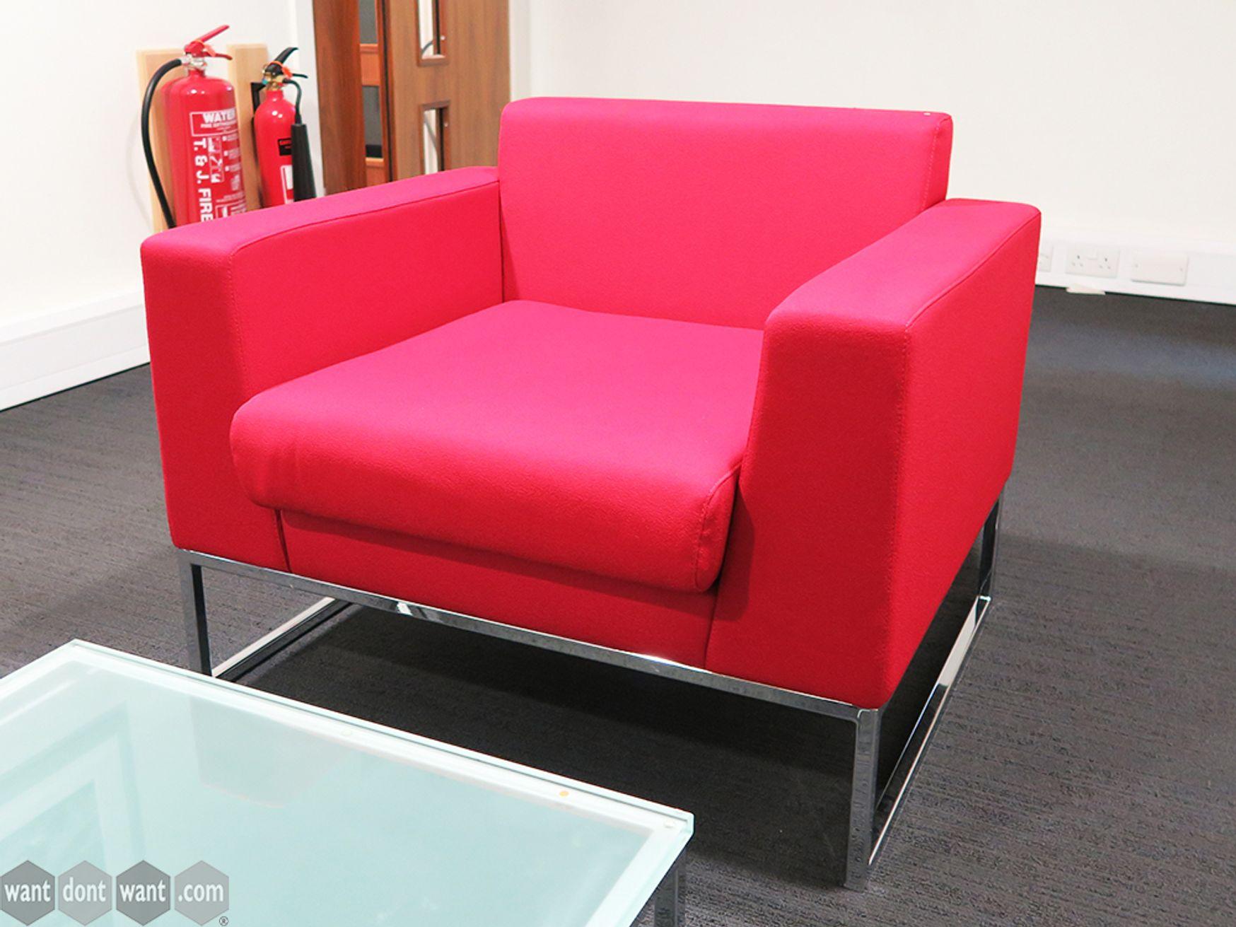 Used Boss Design Layla Fabric Armchairs